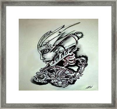 In My Head Framed Print by Chris Gill
