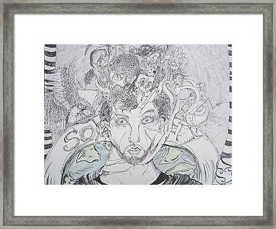 In My Head  Framed Print