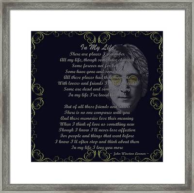 In My Life Golden Scroll Framed Print