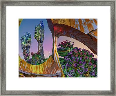 In My Own Little World Framed Print by Mary Almond