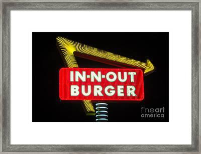 In-n-out Burger Framed Print by Eddie Yerkish
