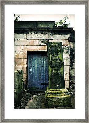 In Old Calton Cemetery Framed Print by RicardMN Photography