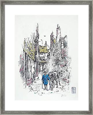 In Old Genoa Framed Print by Roberto Prusso