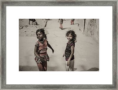 In Omkareshwar Framed Print by Valerie Rosen