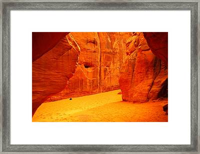 In Orange Chasms Framed Print by Jeff Swan