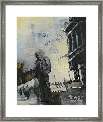 In Piccalo Piazza San Marco Venice 1945 Framed Print