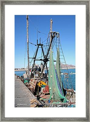 Framed Print featuring the photograph In Port by Dick Botkin