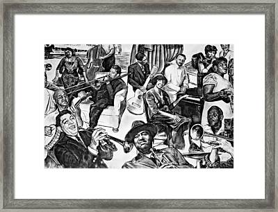 In Praise Of Jazz II Framed Print by Steve Harrington