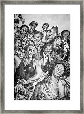 In Praise Of Jazz Framed Print by Steve Harrington