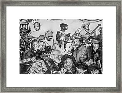 In Praise Of Jazz V Framed Print by Steve Harrington