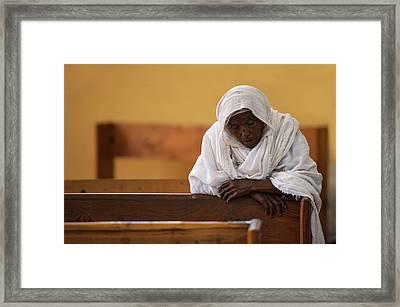 In Prayer Framed Print