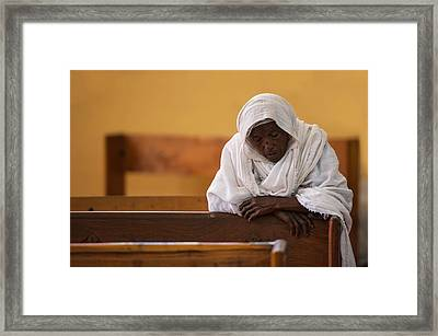 In Prayer Framed Print by Wendy
