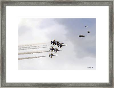 In Pursuit Framed Print by Brian Wallace