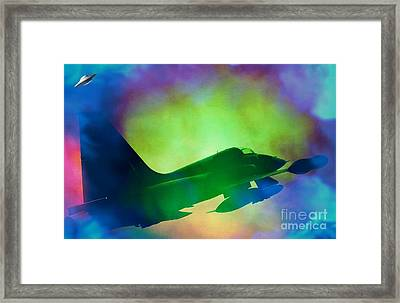 In Pursuit Of A Ufo Framed Print by Daryl Macintyre