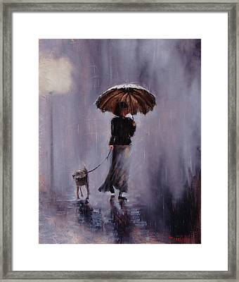 In Rain Or Shine Framed Print