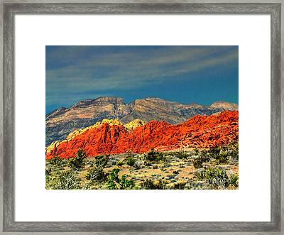 In Red Mountain 1 Framed Print