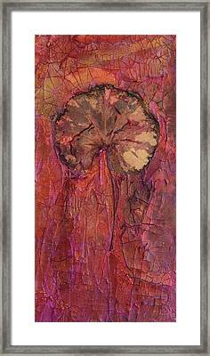 In Remembrance Of The Bloom Framed Print by Sandra Gail Teichmann-Hillesheim