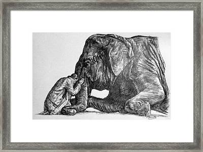 In Reverence Framed Print by Charith Pelpola