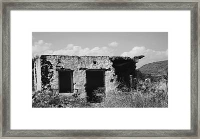 Framed Print featuring the photograph In Ruins by Diane Miller