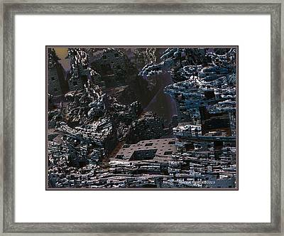 Framed Print featuring the digital art In Ruins by Melissa Messick