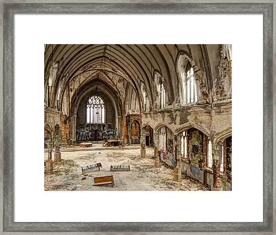 Faith In Ruins Framed Print by Pat Eisenberger