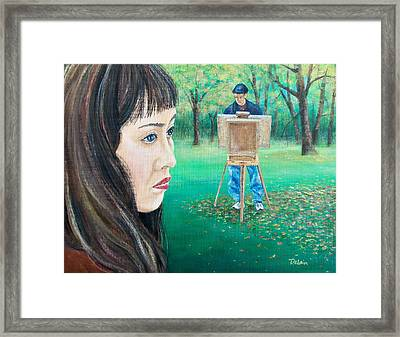 Framed Print featuring the painting In Ryan's World by Susan DeLain