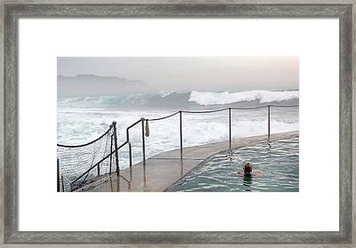 Framed Print featuring the photograph In Safe Waters by Evelyn Tambour