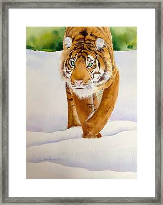 In Search Of Dinner Framed Print by Cynthia Roudebush