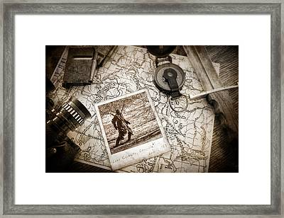 In Search Of Framed Print by Tom Mc Nemar
