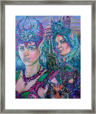 Framed Print featuring the painting In Silvermoon City by Suzanne Silvir