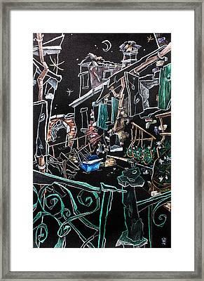 In Sospensione - Wallpaper Venice Italy - Venedig Kunstausstellung Framed Print by Arte Venezia
