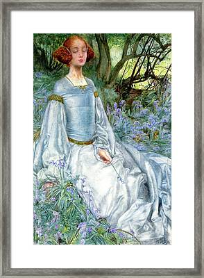 In Spring Time The Only Pretty Ring Time Framed Print by Eleanor Fortescue Brickdale