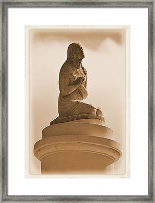 Framed Print featuring the photograph In Supplication by Nadalyn Larsen