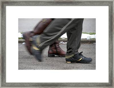 Framed Print featuring the photograph In Synch by Colleen Williams