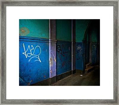 In The Alley Framed Print