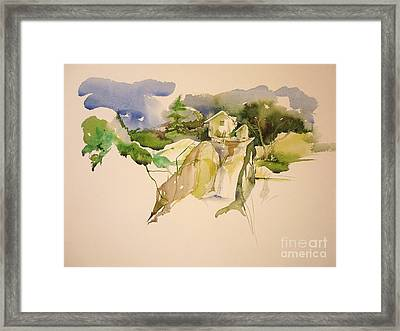 In The Alps Framed Print by Donna Acheson-Juillet