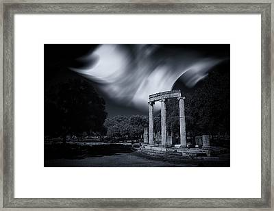 Framed Print featuring the photograph In The Altis Of Olympia by Micah Goff