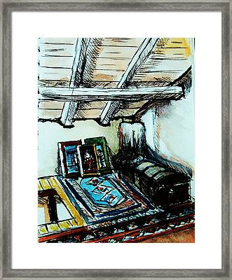 In The Attic Framed Print by Anne Parker