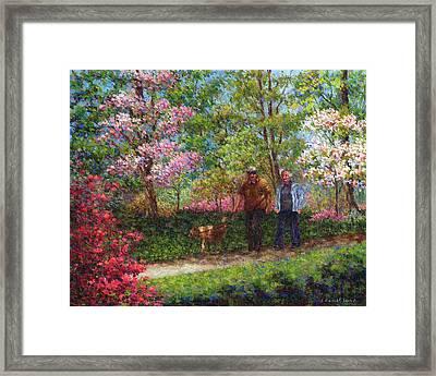 In The Azalea Garden Framed Print by Susan Savad