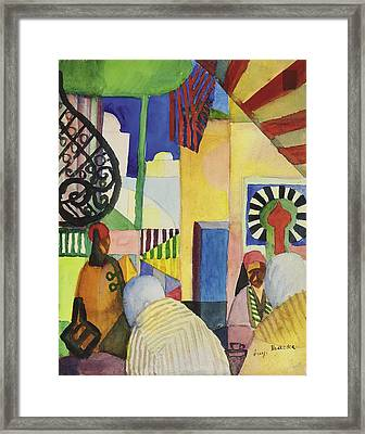 In The Bazaar, 1914 Framed Print