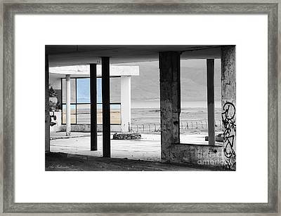 In The Beauty Of Abandoned Framed Print by Arik Baltinester