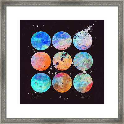 In The Beginning Abstract Art Framed Print by Ann Powell
