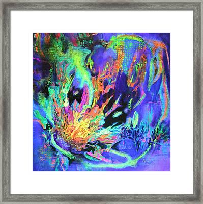 In The Beginning Black Light Framed Print