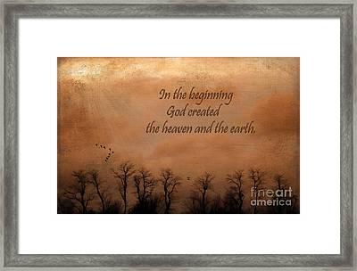 In The Beginning Framed Print by Darren Fisher