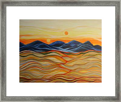 In The Beginning Framed Print by Kathy Peltomaa Lewis