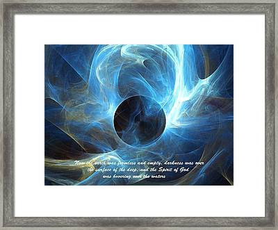 Framed Print featuring the digital art In The Beginning by R Thomas Brass