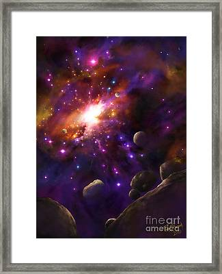 In The Beginning... Framed Print