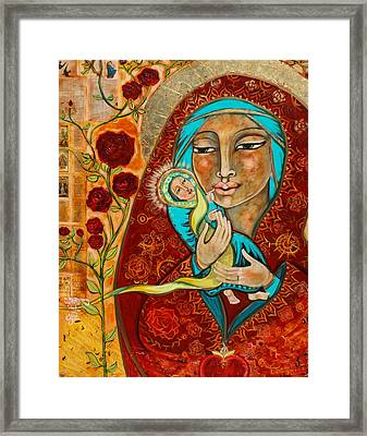 In The Beginning Was The Word Framed Print by Shiloh Sophia McCloud