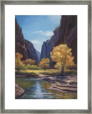 In The Bend Zion Canyon Framed Print