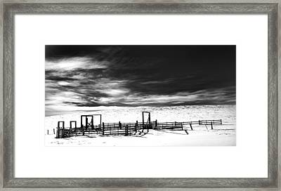 In The Bleak Midwinter Framed Print by Theresa Tahara